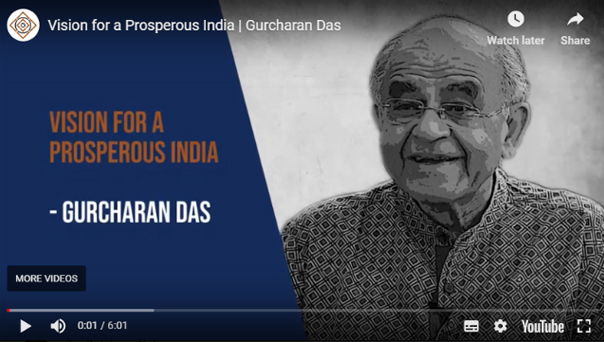 Indian Liberals Speak:  Gurcharan Das on India's Future